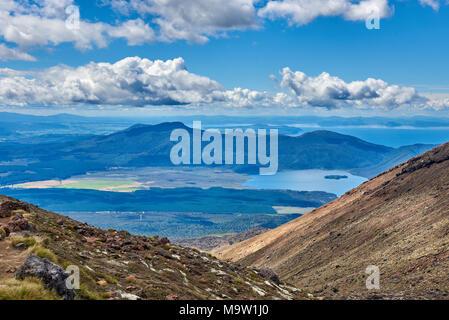 Views along the trail of the Tongariro Alpine Crossing, New Zealand - Stock Photo