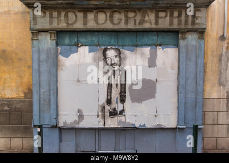 Exterior of an old photography shop in Toulouse France - Stock Photo