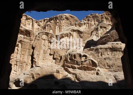 Rock formations at Little Petra, Jordan - Stock Photo