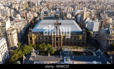 Water Company Palace, Palacio de Aguas Corrientes, Buenos Aires, Argentina - Stock Photo