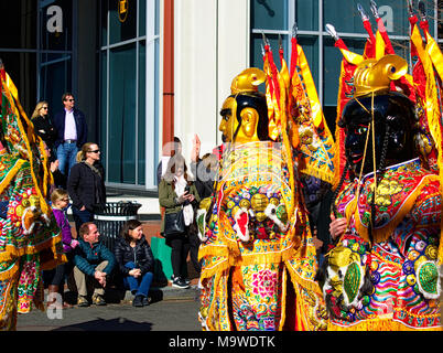 Drummers in Chinese New Years Parade 2018 - Stock Photo