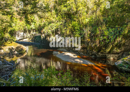 Moria Gate Arch, Kahurangi National Park, South Island, New Zealand - Stock Photo