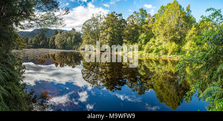 Oparara River, Kahurangi National Park, South Island, New Zealand - Stock Photo