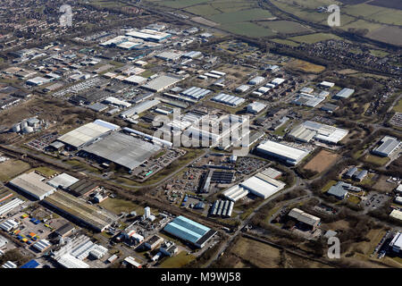 aerial view of Newton Aycliffe, County Durham - Stock Photo