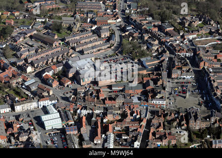 aerial view of Ripon, North Yorkshire - Stock Photo