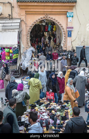Street market, Medina, Meknes. Morocco - Stock Photo