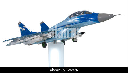 Model of the Russian fighter Mig-35 at an exhibition - Stock Photo