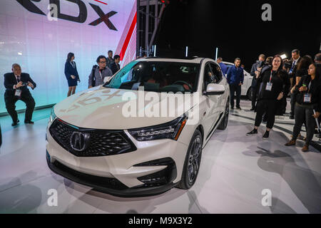 New York, New York, USA. 28th Mar, 2018. Acura RDX is seen after its unveiling at the New York International Auto Show, March 28, 2018 at the Jacob K. Javits Convention Center in New York City. The auto show opens to the public on March 30 and will run through April 8. Credit: William Volcov/ZUMA Wire/Alamy Live News - Stock Photo