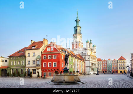 Market Square in the Poznan Old Town, Poland. - Stock Photo