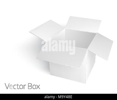 Open white empty box mockup template - Stock Photo