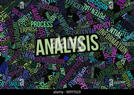 Analysis, business word cloud, for design wallpaper, texture or background. - Stock Photo