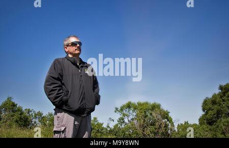 Don Rocha, deputy director of Santa Clara Parks. Santa Teresa County Park in San Jose, California. April 14, 2017.  Byrhonda Lyons/USFWS. The story: - Stock Photo