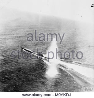 German Submarine Type Viic U 755 Suffers A Direct Hit From A