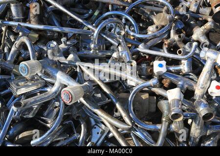 Closeup of scrap metal - Stock Photo