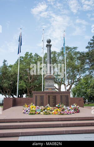 Darwin,Northern Territory,Australia-February 19,2018: Cenotaph Memorial on the Bombing of Darwin Day 76th anniversary remembrance in Darwin, Australia - Stock Photo