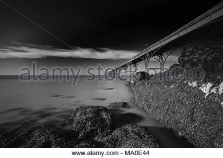 A view of Clevedon Pier, Clevedon, Somerset, UK. - Stock Photo