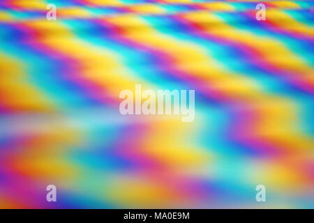 Abstract and colorful background with rainbow waves - Stock Photo