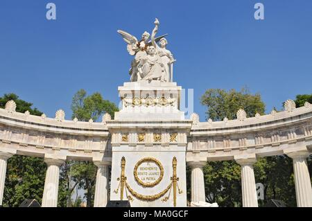 Monument to Benito Juarez, neoclassical monument made of marble to Benito Juarez, Mexico's first indigenous president. Located in the Historic Center  - Stock Photo