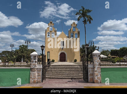 Temple and convent of San Antonio de Padua, Hopelchen, Mexico - Stock Photo