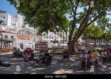 Albufeira Old Town, Algarve, Portugal - Stock Photo