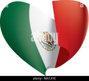 Mexican flag, vector illustration - Stock Photo