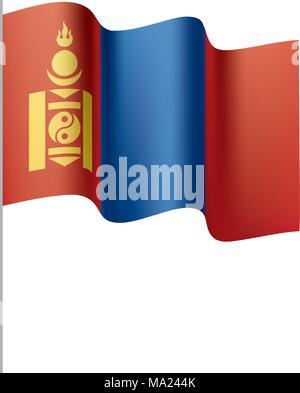 Mongolia flag, vector illustration - Stock Photo
