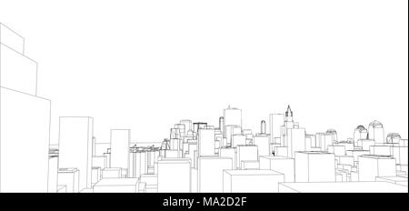 Wire frame new york city blueprint style 3d illustration wire frame new york city blueprint style 3d rendering architecture design background malvernweather Image collections
