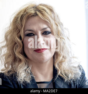 Soprano Pilar Jurado during the press conference at the European Parliament building in Madrid, Spain, on the occasion of the participation of Pilar Jurado, in the acts of the European Parliament in the context of the International Women's Day on 8 March in Brussels.  Featuring: Pilar Jurado Where: Madrid, Community of Madrid, Spain When: 26 Feb 2018 Credit: Oscar Gonzalez/WENN.com - Stock Photo