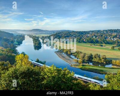 The beautiful Ruhr valley near Witten in North Rhine Westphalia - Stock Photo