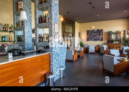 Bar 'H' at the airport Nicelli, Lido, Italy - Stock Photo