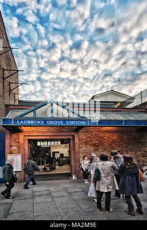 London Underground Tube Station: Ladbroke Grove - Stock Photo