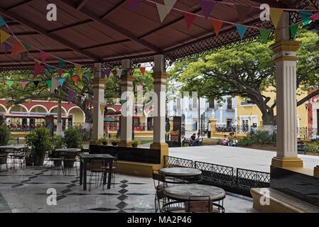 Independence Park (Plaza) in San Francisco de Campeche, Mexico - Stock Photo