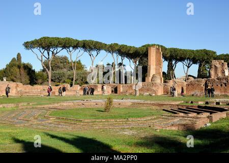 italy, rome, palatine hill, domus flavia - Stock Photo