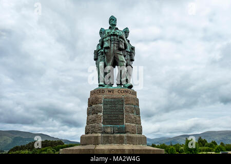 SPEAN BRIDGE / SCOTLAND - MAY 31 2017:: A memorial dedicated to the men of the British Commando Forces raised during World War II. - Stock Photo
