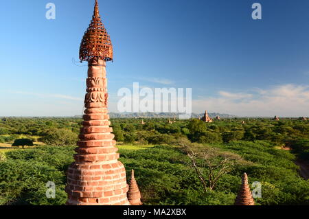 Panorama of the plain. Bagan. Mandalay region. Myanmar - Stock Photo