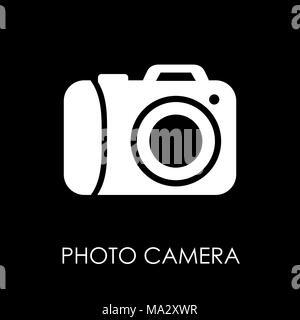 Camera icon symbol flat style vector illustration. - Stock Photo