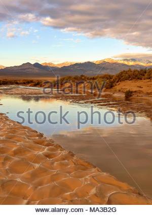 The Amargosa River, Death Valley National Park, California - Stock Photo