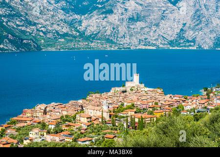 Malcesine, lake Garda, Verona province, Veneto, Italy. - Stock Photo