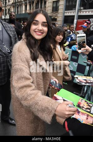 New York, NY, USA. 29th Mar, 2018. Geraldine Viswanathan, seen at BUILD Series to promote her new film BLOCKERS out and about for Celebrity Candids - THU, New York, NY March 29, 2018. Credit: Derek Storm/Everett Collection/Alamy Live News - Stock Photo
