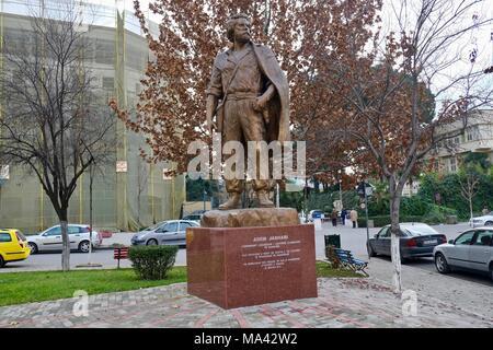 Monument of Adem Jashari, one of the founder of Kosovo Liberation Army in Tirana, Albania - Stock Photo