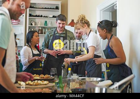 A 'Food Jam' with Jade de Waal in Cape Town, South Africa - Stock Photo