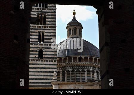 Cathedral in Siena, Tuscany, Italy - Stock Photo