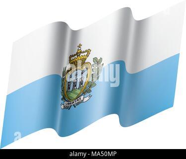 San Marino flag, vector illustration - Stock Photo