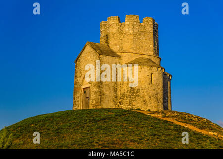 Croatia, Dalmatia, Zadar Riviera, Nin, cross-domed church Sveti Nikola - Stock Photo