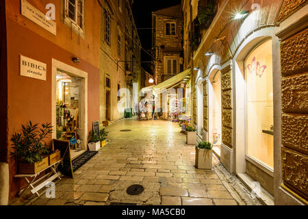 Croatia, Dalmatia, Zadar, Old Town Street Ulica Borelli - Stock Photo