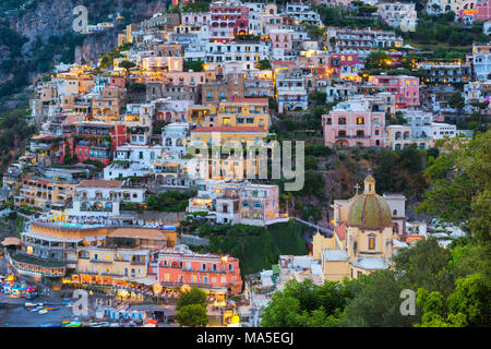Positano,Amalfi coast,Salerno province,Campania,Italy - Stock Photo