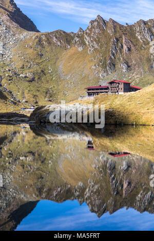 Balea lake, Fagaras Mountain, Carpathians mountains, Cartisoara village, Sibiu district, Transylvania, Romania - Stock Photo