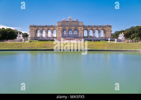 Vienna, Austria, Europe. The Gloriette in the gardens of Schönbrunn Palace - Stock Photo