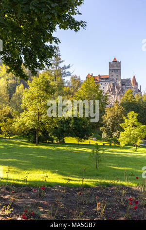 View of Bran Castle, Bran district, Transylvania, Romania - Stock Photo