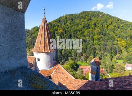 Bran Castle, Bran district, Transylvania, Romania - Stock Photo